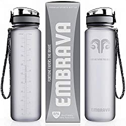 Silver Embrava Sports Water Bottle With Box