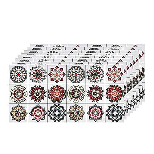3D Papel tapiz de ladrillo, PVC Azulejos Adhesivos,30cm x 60cm Mármol Mosaico Pegatinas de Azulejos Autoadhesivo,efecto 3d, Cenefa autoadhesivo, Para cuarto de baño y cocina Decoració(Color:G,Size: