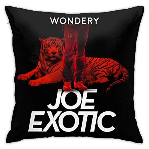 Lsjuee The Tiger King Joe Exotic Square Sea Throw Funda de Almohada Funda de cojín Sofá para el hogar Decorativo 18 'X18' Pulgadas Ultra Suave Cómodo Transpirable Durable