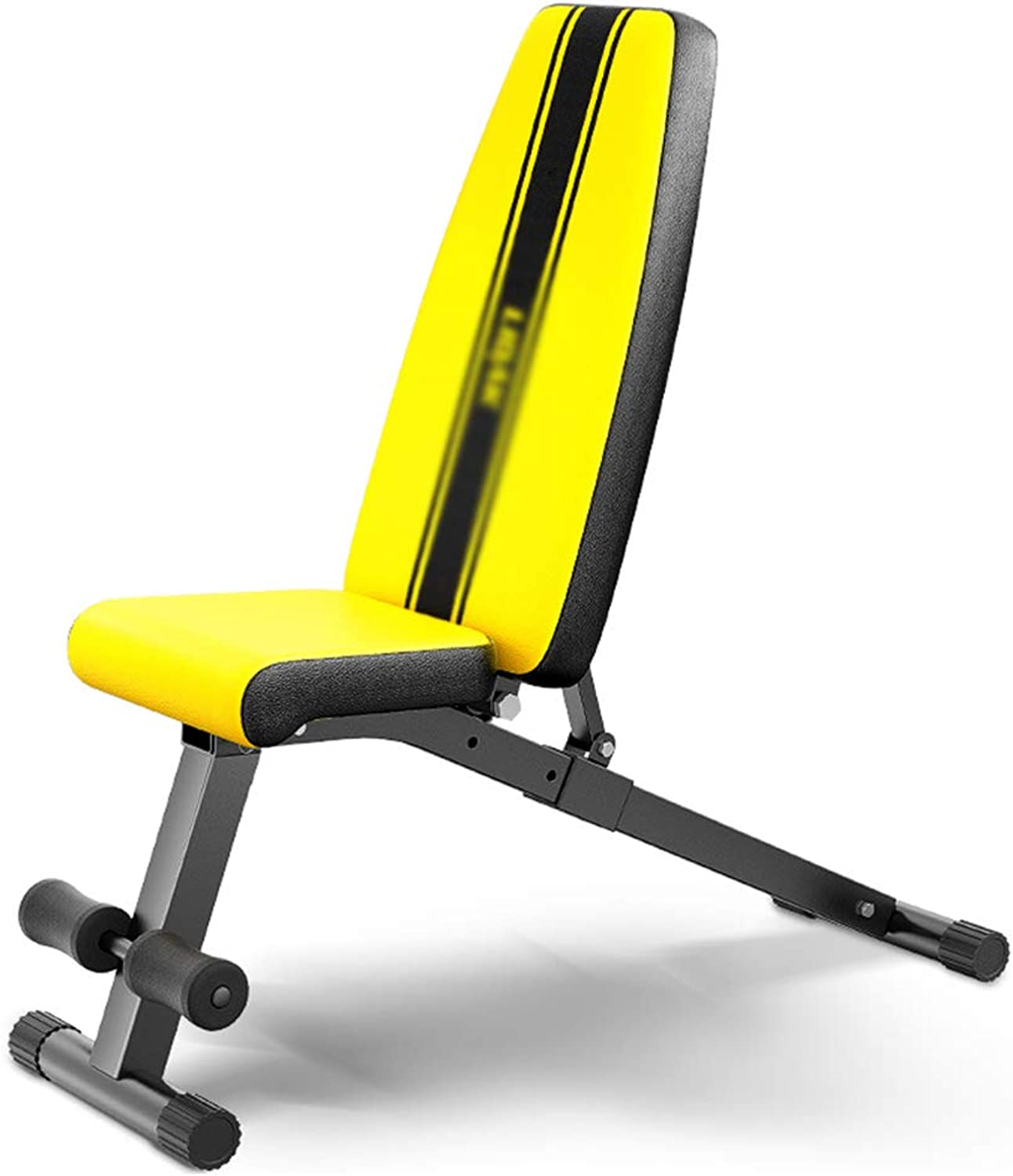 Gym Weight Bench Situps Fitness Equipment Home Abdominal Trainer Exercise Training Bench (color   Yellow, Size   33.5x106x45cm)
