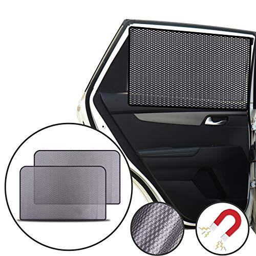 Lechin Parasoles para Coche Sombrillas para Ventanas(2 Piezas), Cortinas Magnéticas para Boquear los Rayos UV y el Calor