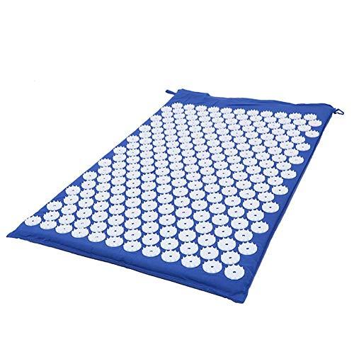 LEEYYO Cojín de masaje de acupuntura azul para aliviar el dolor de presión, cojín de masaje de acupresión para esterilla de yoga, masaje de espalda ciática, relajación muscular después del ejercicio, recuperación de acupuntura, azul