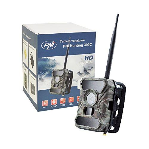 PNI 12MP 1080P Jagd Scouting Trail Digitalkamera Wildlife Kamera Hunting 300C IR, Sendet Bilder per E-Mail mit GSM-SIM-Karte per Internet, IP66 Waterproof Class, F=3.0; FOV=100°