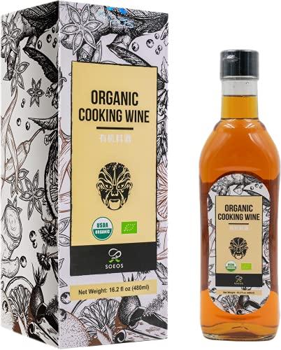 Soeos Organic Cooking Wine 16.2oz(480ml), Shaoxing Cooking Wine, Shaoxing Wine, Chinese Cooking Wine, Rice Cooking Wine, Shaohsing Wine, Shao Hsing Rice Wine, Shaoxing Wine for Cooking, Rice wine.
