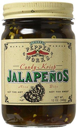 Texas Pepper Works  Candy Krisp Jalapenos  12 oz