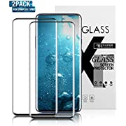 Gozhu Oneplus 7 Pro Tempered Glass Screen Protector,Fingerprint Scaner 3D Liquid Clear Full Curved Edge Case Friendly Anti-Scratch Coverage for Oneplus 7 Pro (2-Pack)