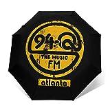 Grace-Ra 94Q Retro Radio Atlanta Compact Travel Umbrella - Auto Open and Close