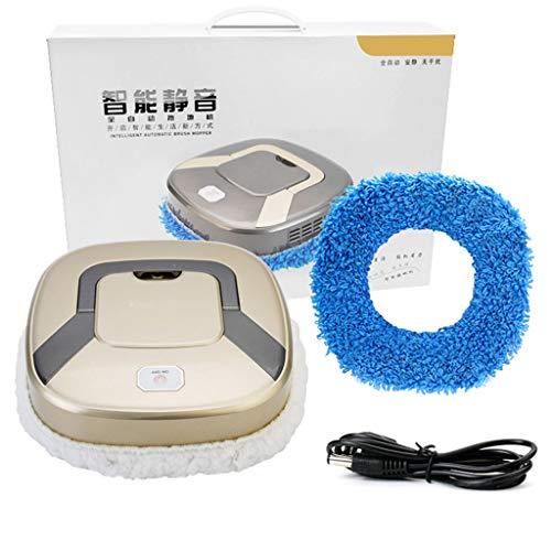 Karrychen Aspiradora silenciosa de Carga USB de Limpieza automática Inteligente Barrido-Oro