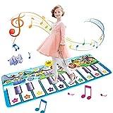 LEVONSTY Alfombrilla de baile para piano, juego musical para niños,...
