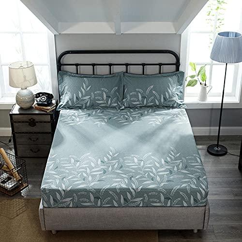 HPPSLT Protector de cama con borde ajustable, microfibra, 100 % poliéster, grueso y pulido, de algodón puro, 25 x 150 x 200 cm