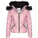 A2Z 4 Kids Enfants Filles Veste Designer Élégant Cropped Rembourré - Jacket Puffer 414 Baby Pink 11-12