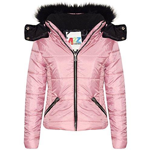 A2Z 4 Kids Enfants Filles Veste Designer Élégant Cropped Rembourré - Jacket Puffer 414 Baby Pink 13
