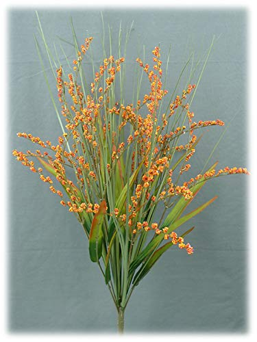 Liberty Artificial Foxtail Grass Fall Spray – 24″ (Orange/Red)
