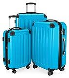 HAUPTSTADTKOFFER - Spree - Juego de Maletas, Trolleys 55 / 65 / 75 cm, TSA, Azul Cian