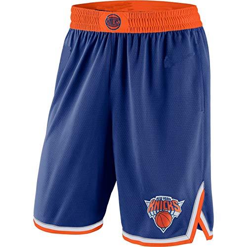DODE deportes pantalones cortos hombres Nueva York Azul,Knicks 2019/20 Icono Edición Swingman Baloncesto cortos para hombres