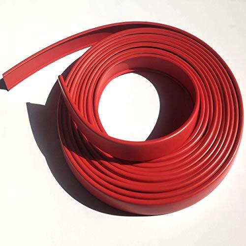 5R16 Cubrecanto de plástico flexible en U (umolding)(16 mm., ROJO). Tira de 5 metros.