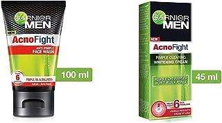 Garnier Men Acno Fight Anti-Pimple Facewash, 100gm And Garnier Men Acno Fight Pimple Clearing Whitening Day Cream, 45g