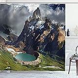 ABAKUHAUS Landschaft Duschvorhang, Park in Argentinien, mit 12 Ringe Set Wasserdicht Stielvoll Modern Farbfest & Schimmel Resistent, 175 x 220 cm, Multicolor