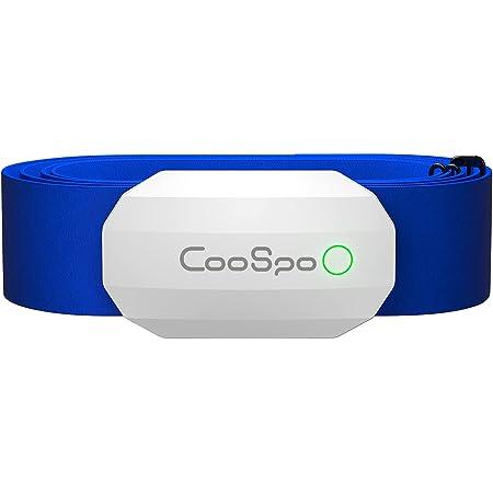 CooSpo Banda de Frecuencia Cardiaca Pulsometro Pectoral Monitor Sensor de Frecuencia Cardíaca Bluetooth 4.0 Ant + para Garmin Polar Endomondo Zwift y Otros