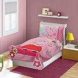 Peppa Pig 'CUTE' 4-Piece Toddler Bedding Set,Comforter 48' x 52', Fitted sheet 28' x 52', Flat sheet 45' x 60', Pillowcase 28' x 20'