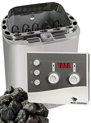 6kW Bio Sauna Ofen Scandia Trendline Steuerung K3 Steine Well Solutions