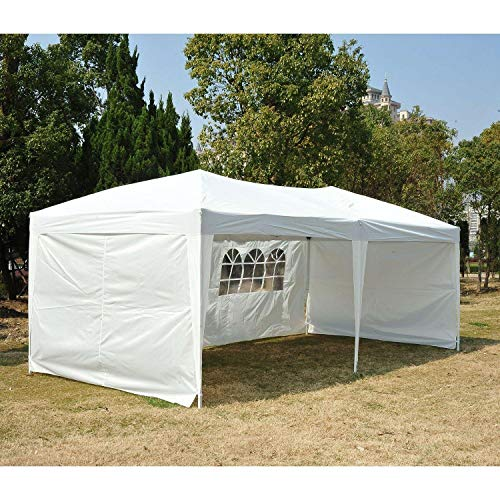 10' X 20' Outdoor Patio Gazebo Party Tent Non-Top Wedding Canopy with Carry Bag