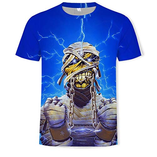 Heren Compressie Shirt Iron Maiden 3D Printing T-Shirt Straat Mode Europese Code Herenkleding