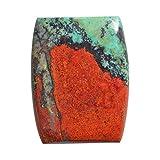Cabujón de jaspe Sonora 100% verde y rojo, tamaño 24 x 18 x 3,5 mm, Sonoran, parte trasera plana, cuprita de carmesí, piedra colgante AG-13422
