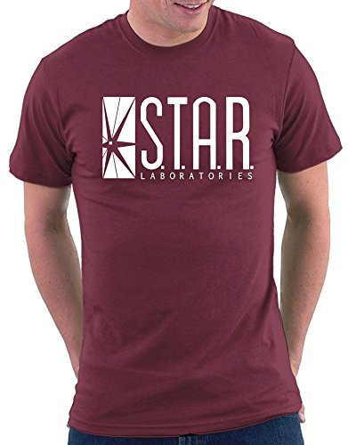 S.T.A.R. Labs T-shirt, Größe M, Bordeaux