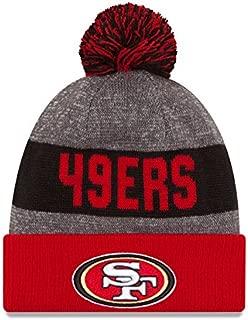 New Era Knit San Francisco 49ers Red On Field Sideline Sport Knit Winter Stocking Beanie Pom Hat Cap 2015