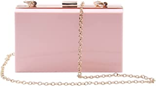 Syrads Damen Abend Clutches Handtasche Cross Body Clutch Case Geldbörse mit Kette,Rosa