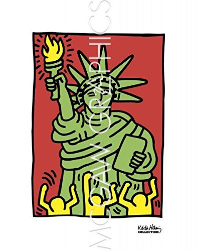 Statue of Liberty poster by Keith Haring