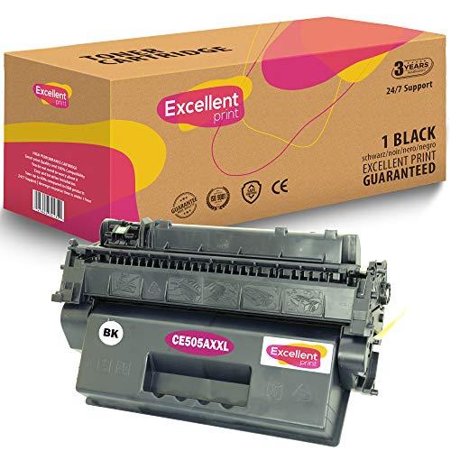 Excellent Print CE505A 05A XXL Compatible Cartucho de Toner para HP Laserjet P2030 P2035 P2050 P2055