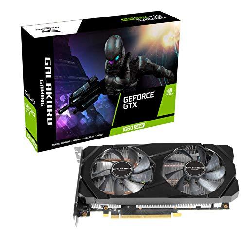 玄人志向 NVIDIA GeForce GTX 1660Super 搭載 グラフィックボード 6GB デュアルファン GALAKURO GAMINGシリ...