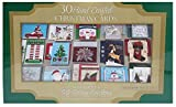Burgoyne Assorted 30 Hand Crafted Christmas Cards with Matching Self-Seal Envelopes