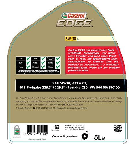 Castrol 57420 EDGE Motoröl Titanium FST 5W-30 LL, 5L
