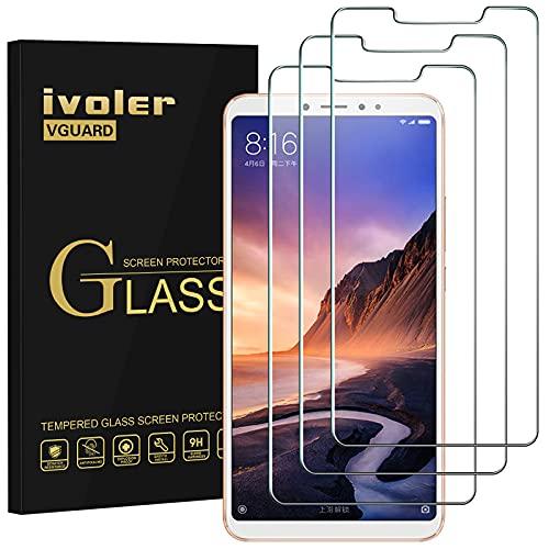 iVoler [3 Pack] Pellicola Vetro Temperato per Xiaomi Mi Max 3, Pellicola Protettiva, Protezione per Schermo