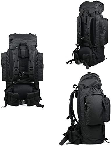 DEED Trekking Rucksacks Back Sac à dos de randonnée - Sac à dos de randonnée imperméable pour sac à dos 100L de grande capacité, Sports Voyage Randonnée Homme,NOIR