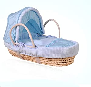 Natural Straw Hand Knitting Baby Portable Bed Crib Breathable Outdoor Travel Cars Baby Cradle Bed Protector for Kids  Color