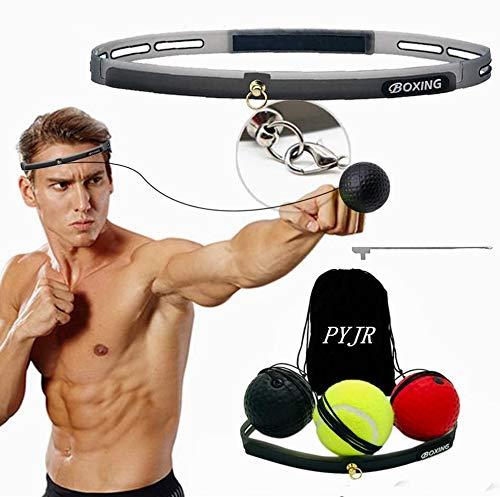 Pallina boxe, Reflex ball boxe, attrezzatura da boxe, per migliorare le reazioni di velocità e la coordinazione occhio mano, ottima per allenamento e fitness, Fascia in Silicone Regolabile, 3 palle.