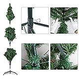SALCAR Weihnachtsbaum künstlich 180cm mit 580 Spitzen, Tannenbaum künstlich regenschirmsystem inkl. Christbaum-Ständer, Weihnachtsdeko - grün 1,8 m - 5