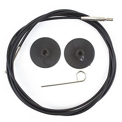 KnitPro Cable: Circular: Interchangeable: Black: 126cm