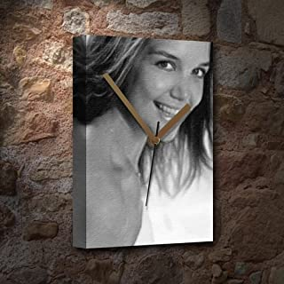 Katie Holmes - Canvas Clock (A5 - Signed by The Artist) #js004