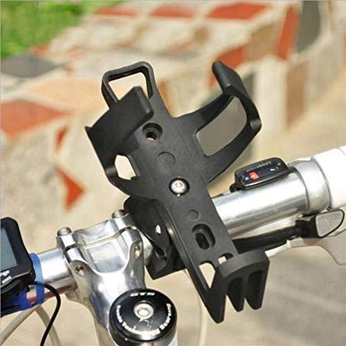 FGMGFTG Ligero y Fuerte Portabotella Copa Bicicleta Titular de 360 Grados Jaula del Estante for MTB de la Bicicleta de la Motocicleta Cochecito Accesorios para Bicicletas (Color : Black)