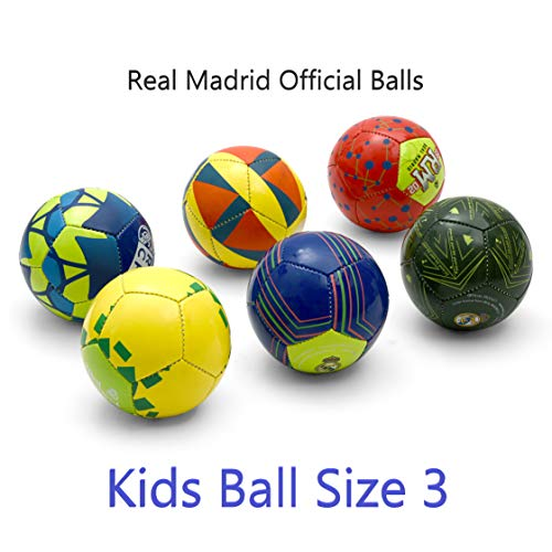 Real Madrid C.F. Official License Kids Mixed Football, Size 3 (Assorted Colour and Design)