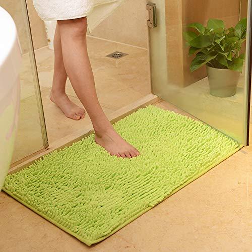 vctops Plush Chenille Bath Rugs Extra Soft and Absorbent Microfiber Shag Rug, Non-Slip Runner Carpet for Tub Bathroom Shower Mat Friut Green 16' X 24'