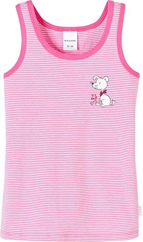 Schiesser Mädchen original Classics Hemd 0/0 Unterhemd, Rot (pink 504), 128