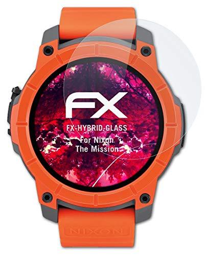 atFoliX Glasfolie kompatibel mit Nixon The Mission Panzerfolie, 9H Hybrid-Glass FX Schutzpanzer Folie