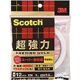 3Mスコッチ超強力両面テーププレミアゴールドスーパー多用途薄手SPU-12
