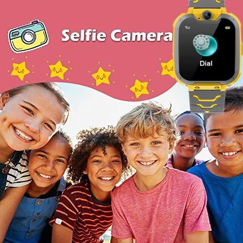 Smartwatch,1.54 Zoll Touch-Farbdisplay Kinder Smartwatch mit Kurzwahl, Musik, Wecker, Spiel, Kamera, Taschenlampe, IPX65 Water Resistant & SOS